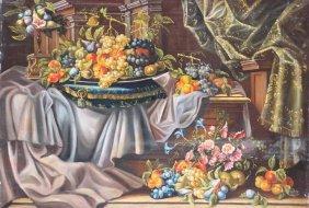 Ecole Du Xixme Sicle Nature Morte Aux Fruits Huile