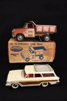 Pressed Steel Station Wagon & Hydraulic Dump Truck