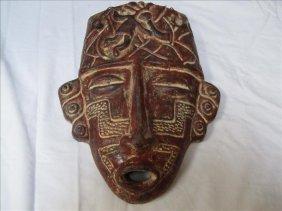Incan Style Decorative Head Mask