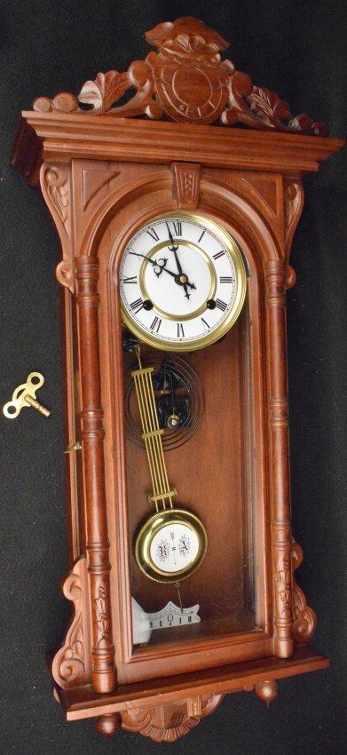 German ra pendulum wall clock w key works lot 391 for German pendulum wall clocks