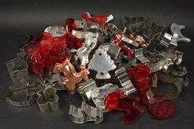 Lot Of Vintage Metal & Plastic Cookie Cutters