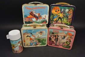 (4) 1960's-70's Tv Shows/ Movie Lunch Boxes