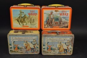 (4) Vintage Western Lunch Boxes