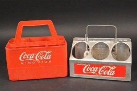 1950's Coca-cola 6 Bottle Aluminum Bottle Carrier