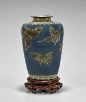 Antique Japanese Ota CloisonnÉ Enamel Vase