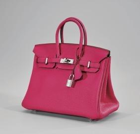 HermÈs Hot Pink Fjord Birkin Bag