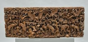 Elaborately Carved Old Chinese Wood Panel