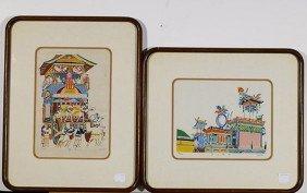 Four Various Framed Asian Prints