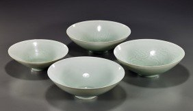 Group Of Four Chinese Glazed Bowls