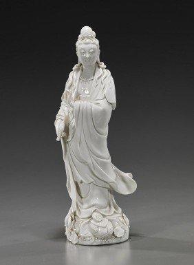 Chinese Blanc De Chine Porcelain Guanyin