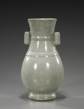 Chinese Song-Style Crackle Glazed Vase