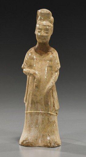 Sui Dynasty Glazed Pottery Tomb Figure