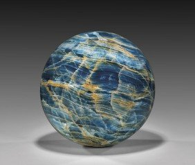LARGE AND RARE BLUE CALCITE SPHERE