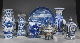 Collection Of Asian Blue & White Ceramics
