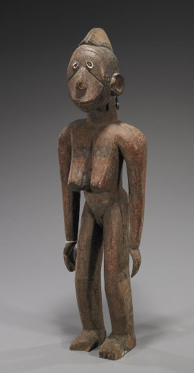 Tall African Carved Wood Figure
