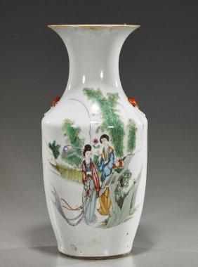 Old Chinese Ovoid Porcelain Vase