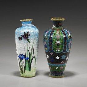 Two Japanese Cloisonn� Cabinet Vases