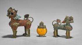 Three Sino-tibetan 'jeweled' Items