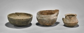 Three Antique Omani Water Vessels