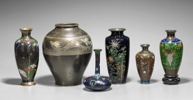 Six Old & Antique Japanese Vases