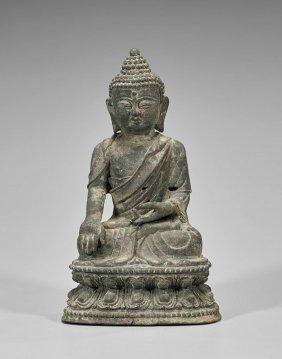 Ming-style Bronze Shakyamuni Buddha