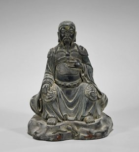 Ming-style Bronze Seated Figure