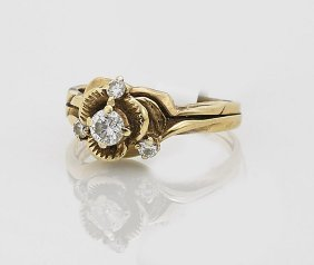 Vintage Ladies' 14k Gold & Diamond Ring