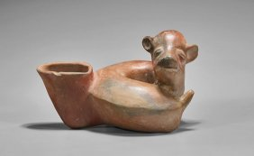 Pre-columbian Redware Pottery Pouring Vessel