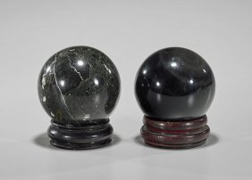 Two Heavy & Well Polished Spheres