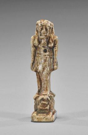 Egyptian Faience Amulet Of Nefertum