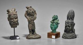 Four Various Figures: Composite & Bronze
