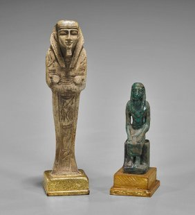 Two Egyptian-style Votive Items