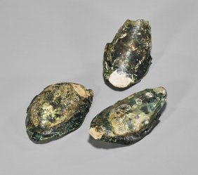 Three Ancient Roman Glass Oysters