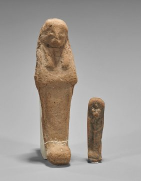 Two Egyptian Terracotta Votive Goods