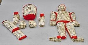 Chinese Hardstone Burial Suit Set