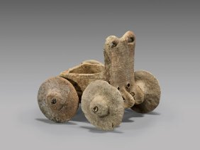 Hittite Terracotta Wagon Model
