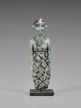 Egyptian Turquoise Faience Concubine