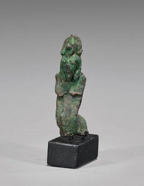 Egyptian Bronze Human-cobra Figure
