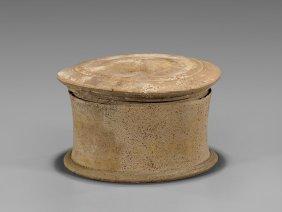 Greek Terracotta Pyxis Vessel