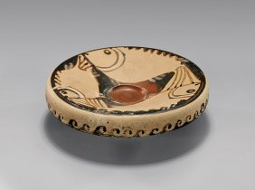 Apulian Red-figure Pottery Fish Plate