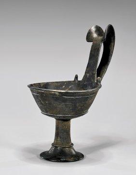 Large Etruscan Pottery Kyathos