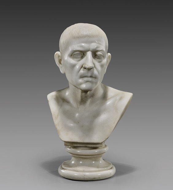 GRAND TOUR MARBLE BUST: Cicero : Lot 166