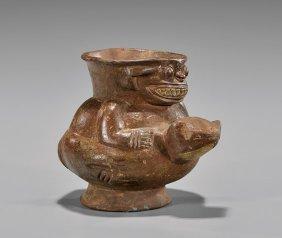 Pre-columbian-style Pottery Effigy Jar