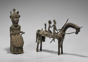 Two African Bronzes: Dogon & Benin