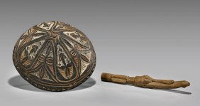 Two Oceanic Items: Bowl & Carving