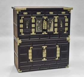 Antique Chinese Wood Storage Cabinet
