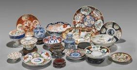 Seventeen Various Antique Japanese Porcelains