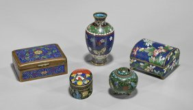 Five Old & Antique Asian Cloisonné Enamels