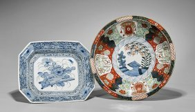 Two Antique Japanese Porcelain Dishes