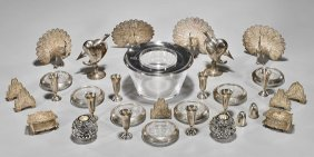 Thirty-three Various Sterling Silver Table Pieces